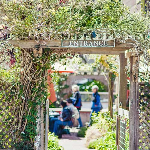 Garden patio entrance.